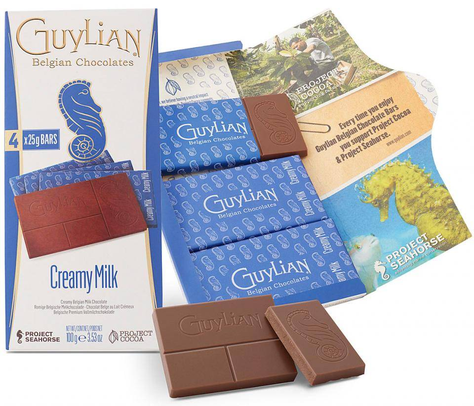 Guylian sustainable chocolate tablets