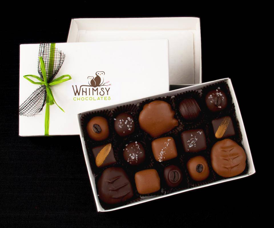 Whimsy Chocolates pralines box
