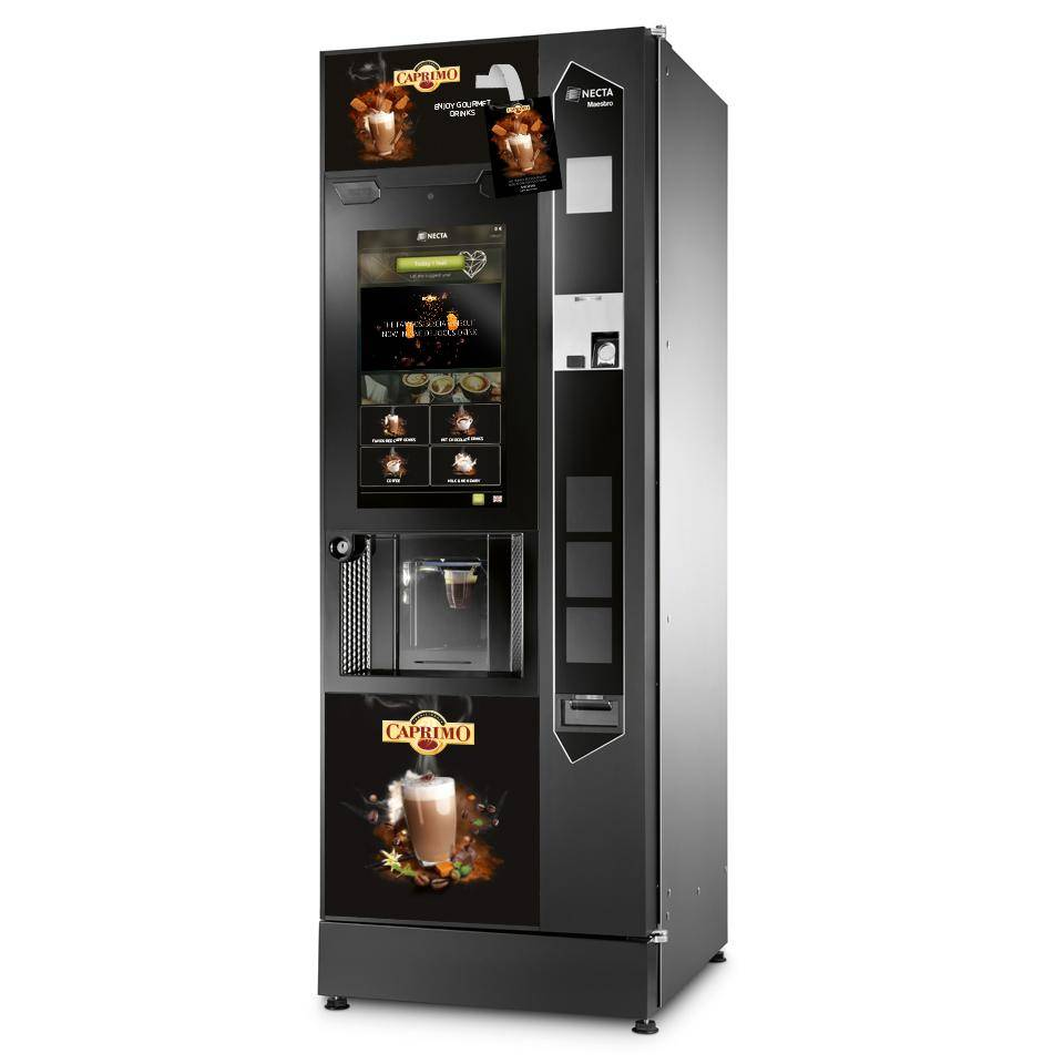 Caprimo vending machine cappuccino speculoos branded
