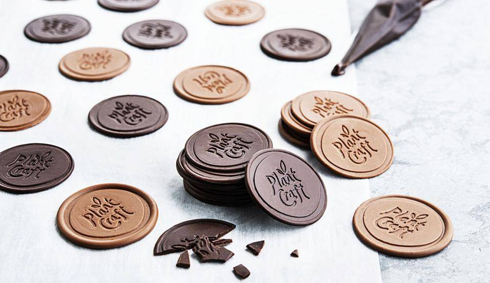 Dairy-free chocolate coins