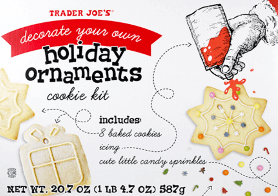 holiday ornaments cookie kit