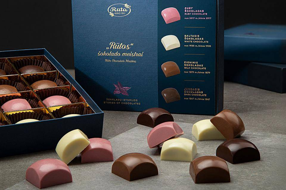 Ruta pralines box with 4 types of chocolates