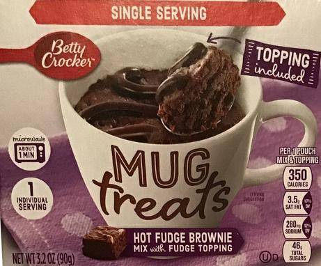 Betty Crocker hot fudge brownie-in-a-mug mix