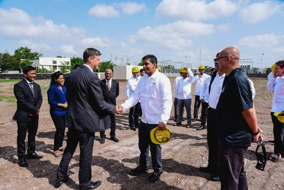 Groundbreaking of new chocolate factory in Baramati, India