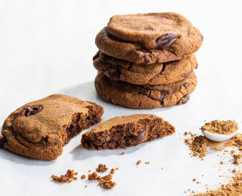 american cookies with vegan cacaofruit ingredients