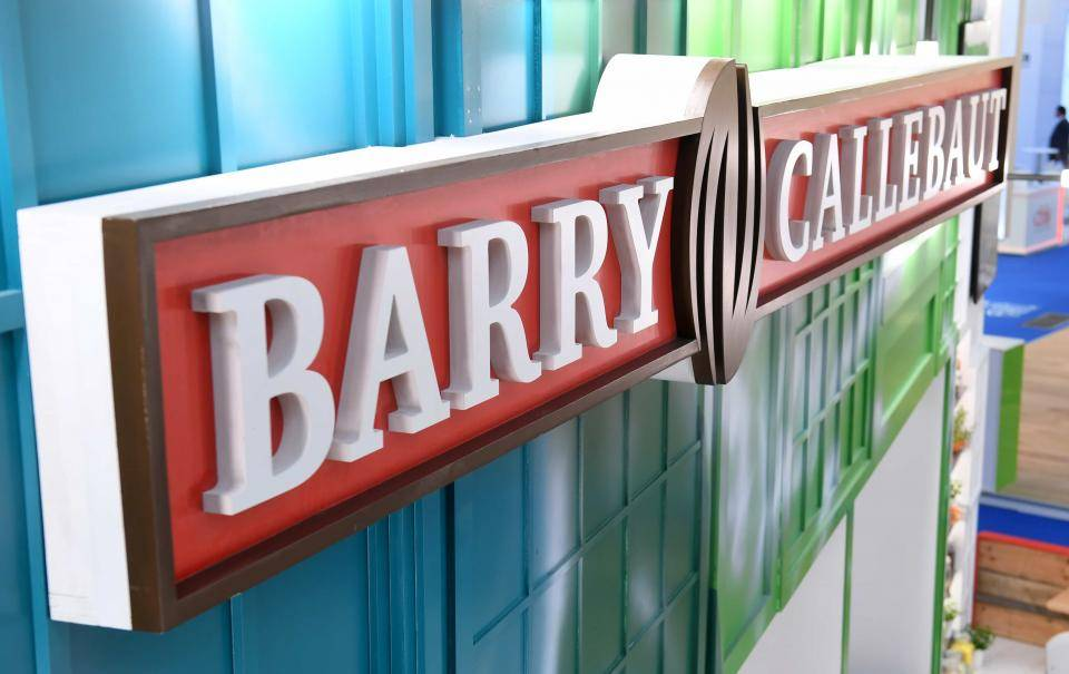 barry callebaut logo on wall