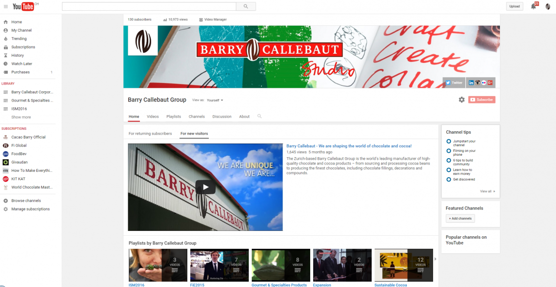 Barry Callebaut YouTube video