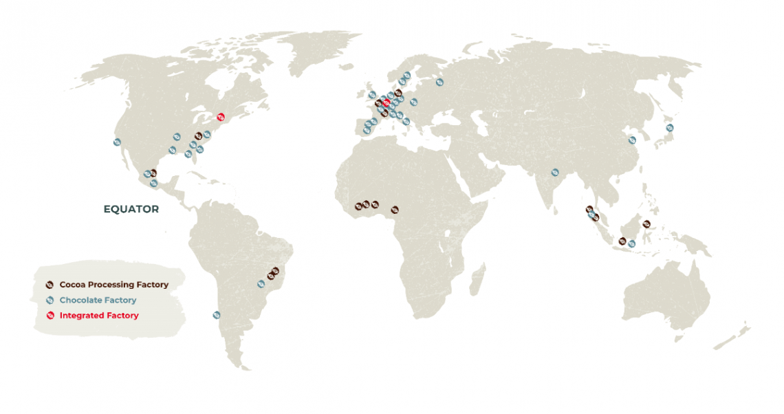 Barry Callebaut's global footprint