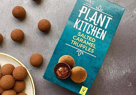 Marks & Spencer plant kitchen salted caramel truffles