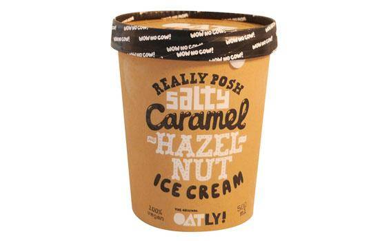 Oatly vegan hazelnut ice cream