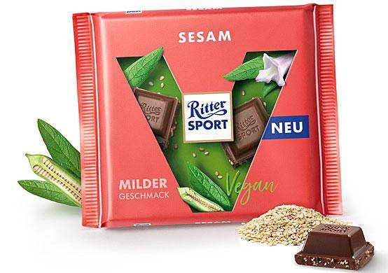 Ritter Sport vegan sesam chocolate tablet