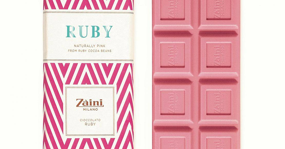 Zaini pure ruby chocolate tablet