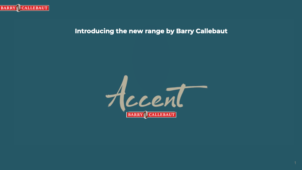accent brochure preview -- blue background with ACCENT in script text