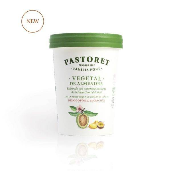 Pastoret (Spain) almond-based yogurt, peach and passionfruit flavored. Made with Marcona almond and Pyrenean water.