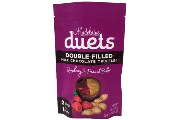 Madelaine's Duets Double-filled Milk Chocolate Truffles with Raspberry & Peanut Butter