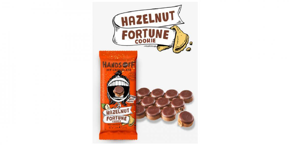 Hands Off My Chocolate (Netherlands) Hazelnut fortune cookie tablet