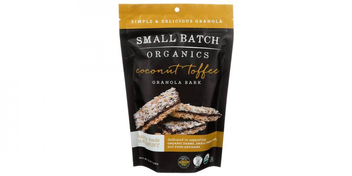 Small Batch Organics (US) chocolate granola bark