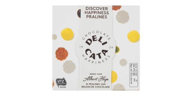 Delicata by Albert Heijn (Netherlands) Discover Happiness Pralines