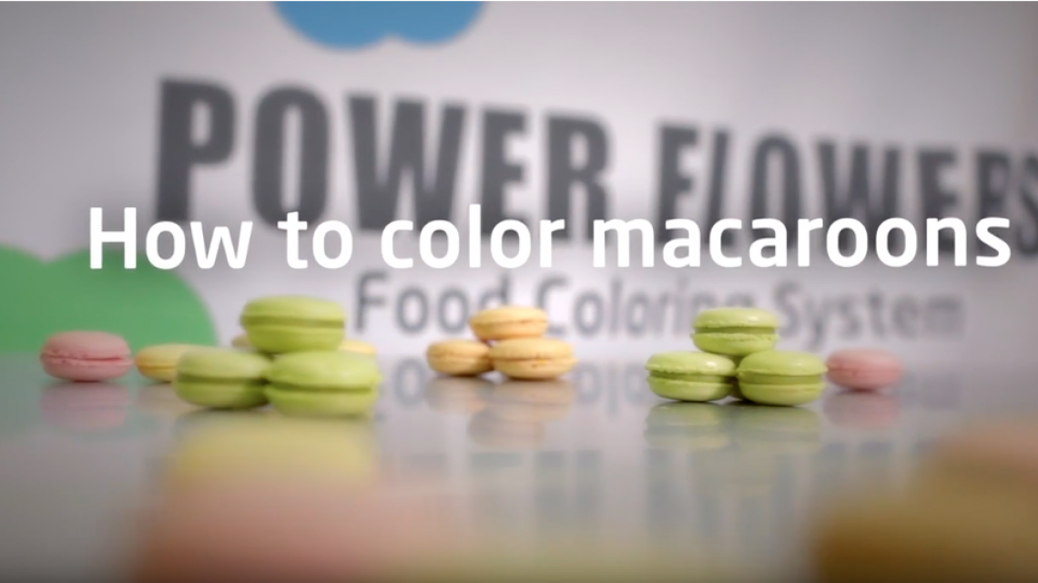 How to color macaroons video