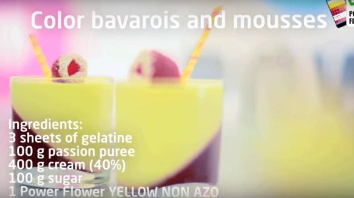 How to color bavarois and mousses?