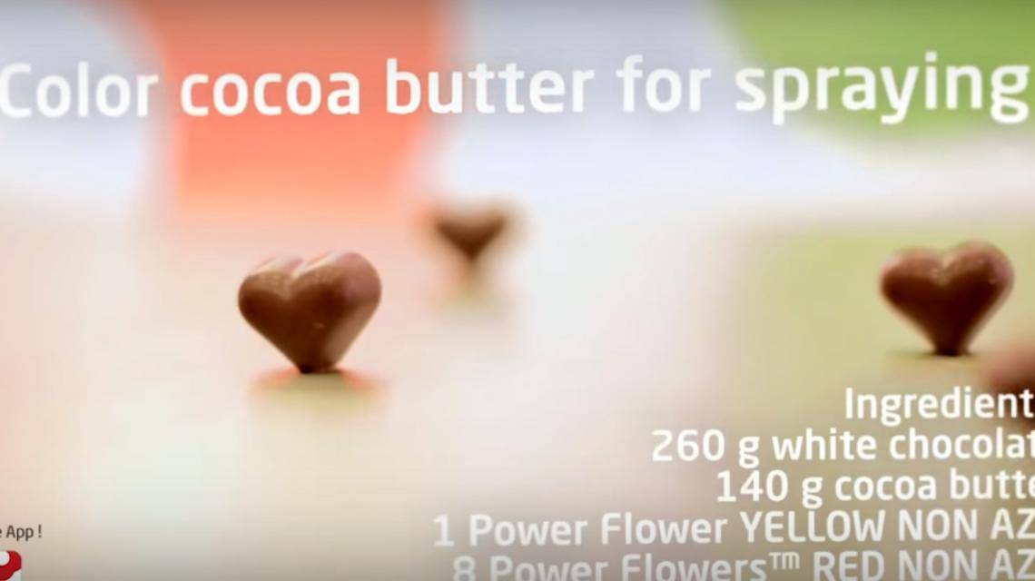 How to color cocoa butter for spraying?