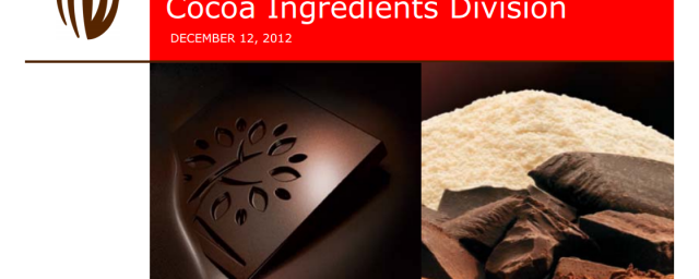 Acquisition of Petra Foods' Cocoa Ingredients Division