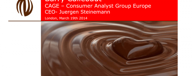 CAGE (Consumer Analyst Group Europe) presentation