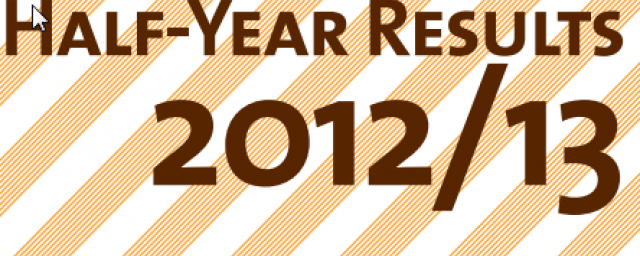 Half-year results 2012/13