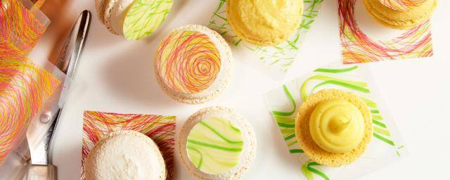 Spring and Swirl Macarons