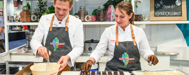 Chef Martin and Chef Gabrielle in the Barry Callebaut Studio