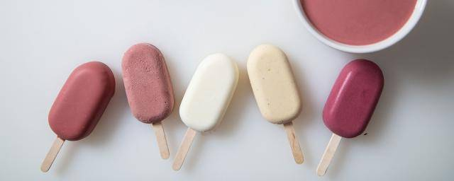 Ruby chocolate ice cream sticks