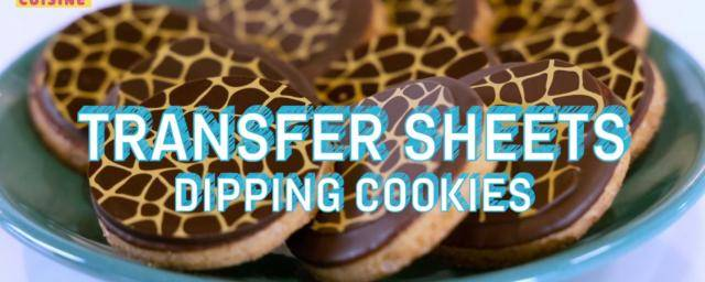 Transfer sheets for patterned cookies
