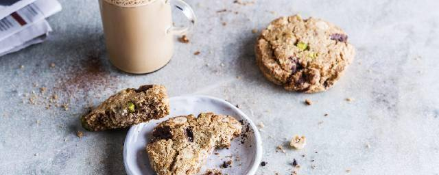 Tasty and good cookies with nuts and protein chocolate chips