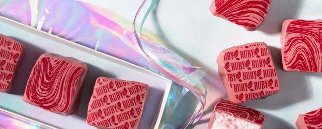 Ruby coated marshmallows with prints