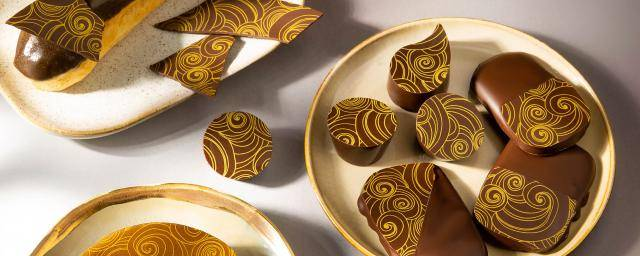 Printed chocolate pralines
