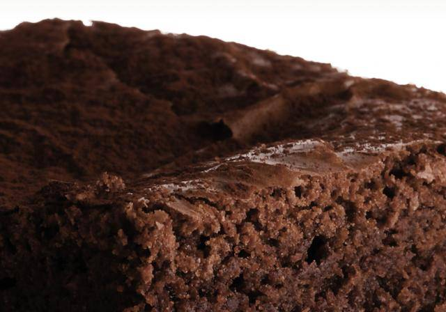 Brownie with natural dark cocoa powder