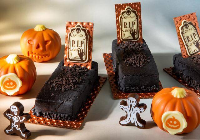 Chocolate pumpkins, cake graves and chocolate skeletons